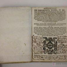 Libros antiguos: 5860 - RECOPILACIO DE DIFERENTS VOTS, Y ALTRES DOCUMENTS, EN JUSTIFICACIÓ, BARCELONA 1682. Lote 40961870