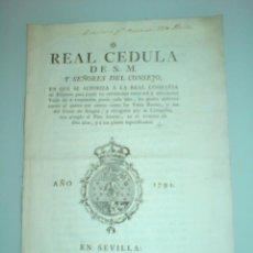 Libros antiguos: 1791 - REAL CEDULA ... REAL COMPAÑIA DE FILIPINAS. Lote 41221674
