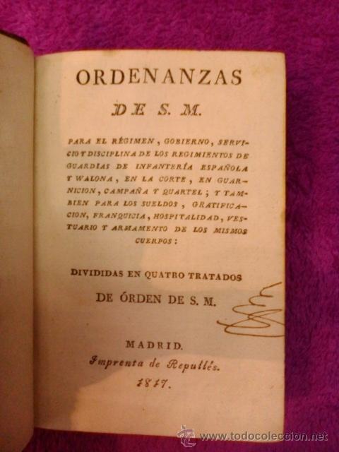 Libros antiguos: ORDENANZAS S. M. 1817 - Foto 3 - 41356882