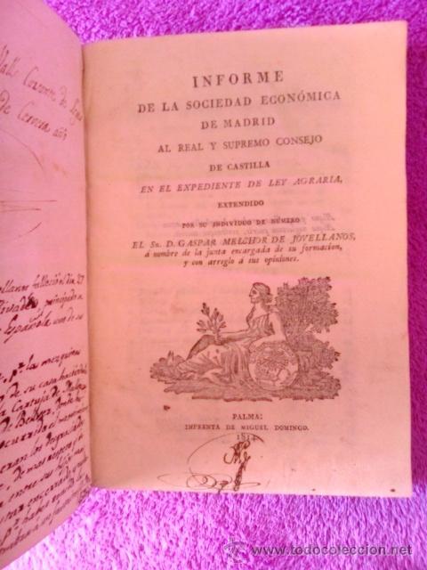 Libros antiguos: LEY AGRARIA, INFORME DE LA SOCIEDAD ECONOMICA DE ESTA CORTE;REAL CONSEJO DE CASTILLA, G. M. J. 1814 - Foto 2 - 41413949