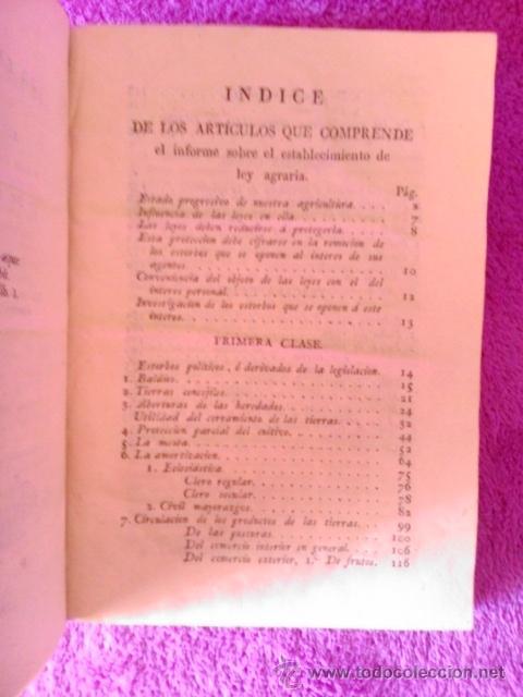 Libros antiguos: LEY AGRARIA, INFORME DE LA SOCIEDAD ECONOMICA DE ESTA CORTE;REAL CONSEJO DE CASTILLA, G. M. J. 1814 - Foto 3 - 41413949
