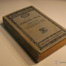 Libros antiguos: CIENCIA Y EDUCACIÓN - MANUALES DERECHO USUAL POR ADOLFO POSADA 1929. Lote 41504968