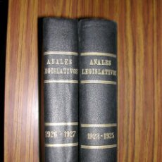 Libros antiguos: DOS TOMOS. LOS ANALES LEGISLATIVOS. 1923 - 1927. L10562.. Lote 41530565