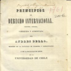 Libros antiguos: PRINCIPIOS DE DERECHO INTERNACIONAL. ANDRÉS BELLO. LIBRERÍA DE MORENO Y Cª. LIMA. 1844. Lote 41639347