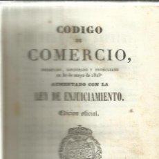 Libros antiguos: CÓDIGO DE COMERCIO AUMENTADO CON LEY DE ENJUICIAMIENTO. MADRID. 1841. Lote 41857690