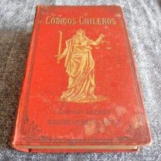 Libros antiguos: CODIGOS CHILENOS, ROBERTO MIRANDA, EDITOR, 1900. Lote 42116274