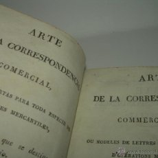 Libros antiguos: EL ARTE DE LA CORRESPONDENCIA COMERCIAL...EN FRANCES Y ESPAÑOL....AÑO..1.822. Lote 42183051