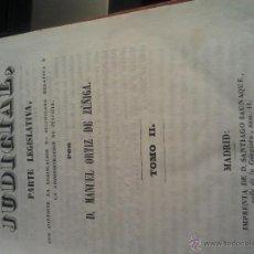 Libros antiguos: 1849 TOMO II BIBLIOTECA JUDICIAL PARTE LEGISLATIVA MANUEL ORTIZ DE ZUÑIGA. Lote 44335425