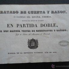 Libros antiguos: GALICIA.PADRON.'TRATADO DE CUENTA Y RAZON, O CUENTAS DEL ESPAÑOL JEREMIAS' M.V. DE CHRISTANTES 1838. Lote 44724583