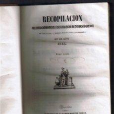 Libros antiguos: RECOPILACION - JURISDICCION CIVIL - TOMO VIII - LEYES Y REALES DISPOSICIONES 1845 - FOTOS ADICIONAL. Lote 44837803