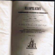 Libros antiguos: RECOPILACION - TOMO III - LEYES Y REALES DISPOSICIONES 1833-1841 - FERRATER - FERIGLE - FOTOS . Lote 44837863
