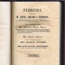 Libros antiguos: PARTE CIVIL - LIBRO I - DE LAS PERSONAS - TOMO I -JUECES ABOGADOS ESCRIBANOS - 1844 - FOTOS . Lote 44837950