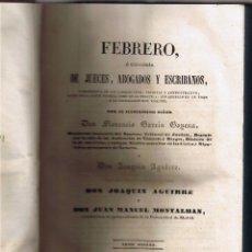 Libros antiguos: PARTE ADMINISTRATIVA - TOMO DECIMO -JUECES ABOGADOS ESCRIBANOS - 1845 - FOTOS . Lote 44837968
