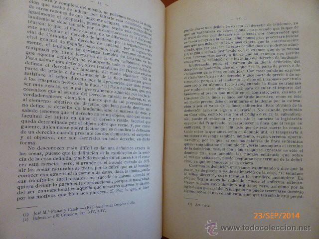 Libros antiguos: Del Derecho de Lauedemio en la Enfiteusis de Cataluña - Foto 4 - 45371770