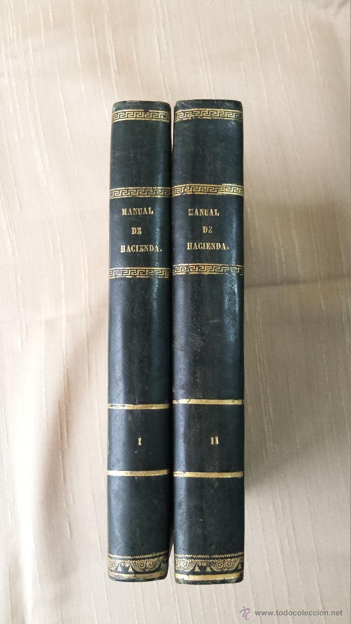 MANUAL DE HACIENDA MADRID IMPRENTA DEL COLEGIO DE SORDOMUDOS 1841 (Libros Antiguos, Raros y Curiosos - Ciencias, Manuales y Oficios - Derecho, Economía y Comercio)