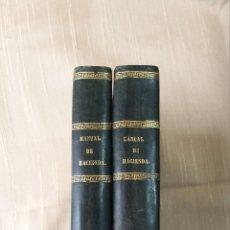 Libros antiguos: MANUAL DE HACIENDA MADRID IMPRENTA DEL COLEGIO DE SORDOMUDOS 1841. Lote 45528932