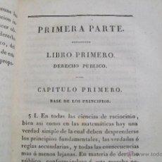 Libros antiguos: EL ESPÍRITU DEL DERECHO TOMO I PRIMERA MITAD DEL XIX. Lote 45711644