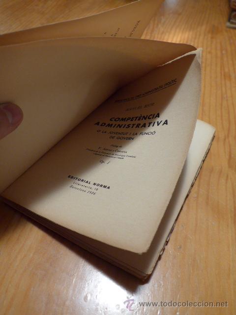 Libros antiguos: Libro antiguo competencia administrativa, funcio de govern, barcelona 1936, guerra civil, català - Foto 2 - 46155581
