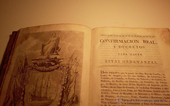 Libros antiguos: Libro Ordenanzas de la ilustre universidad y casa de contratacion de la Villa de Bilbao. Año 1819 - Foto 3 - 46450893