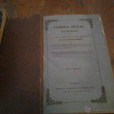 Libros antiguos: CÓDIGO PENAL.DE CASTRO Y OROZCO, ORTIZ DE ZÚÑIGA.TOMO TERCERO.GRANADA.1848.. Lote 46731072