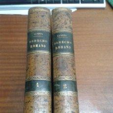 Libros antiguos: CURSO HISTÓRICO EXEGÉTICO DEL DERECHO ROMANO / 2 TOMOS / PEDRO GÓMEZ DE LA SERNA / MADRID 1869. Lote 46750142