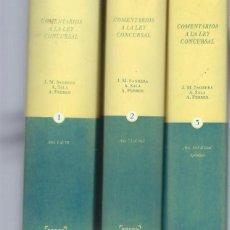 Libros antiguos: COMENTARIOS A LA LEY CONCURSAL, CON CONCORDIAS, JURISPRUDENCIA Y FORMULARIOS, 3 TMS, BOSCH BCN 2004. Lote 47293630
