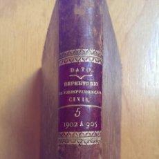 Libros antiguos: REPERTORIO DOCTRINAL Y LEGAL DE JURISPRUDENCIA CIVIL TOMO V VV.AA. AÑO 1907. Lote 47297758