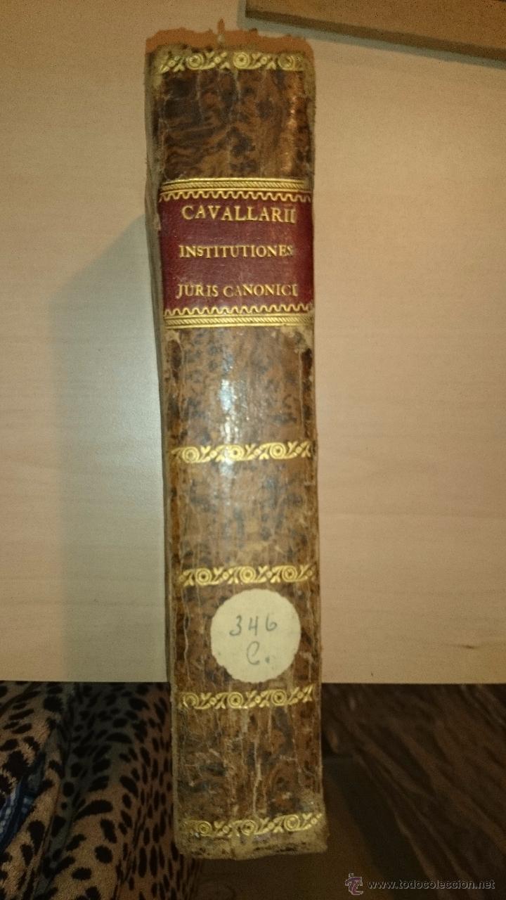 Libros antiguos: 1821 - DOMINICI CAVALLARII ... INSTITUTIONIS JURIS CANONICI - RELIGION DERECHO CANONICO - Foto 4 - 48917751