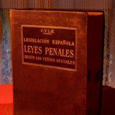 Libros antiguos: LEGISLACIÓN ESPAÑOLA LEYES PENALES POR MARIANO GRANADOS Y GREGORIO PECES BARBA, 1934. Lote 49001856