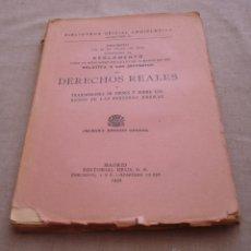 Libros antiguos: REGLAMENTO PARA LA APLICACION DE LA LEY DE 11 DE MARZO DE 1932 (DECRETO). IMPUESTOS REALES.. Lote 48806841