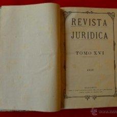 Libros antiguos: REVISTA JURIDICA AÑO 1918 COMPLETO . Lote 49594607