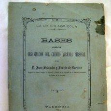 Libros antiguos: BASES PARA LA ORGANIZACIÓN DEL CRÉDITO AGRÍCOLA PERSONAL. 1887. SAAVEDRA Y LADRÓN DE GUEVARA JUAN. Lote 49762256