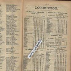Libros antiguos: DIETARIO Y GUIA DE BARCELONA AÑO 1897 PRECIO DEL TREN A LA ENCINA CASPE PICAMOIXONS BERGA SALOU REUS. Lote 49868551