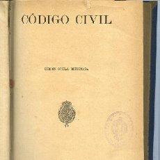 Libros antiguos: CODIGO CIVIL, EDICION OFICIAL REFORMADA IMP. MINISTERIO GRACIA Y JUSTICIA 1889. Lote 49881468