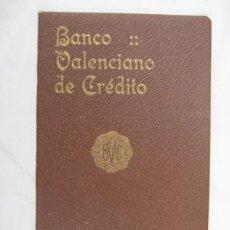 Libros antiguos: BANCO VALENCIANO DE CRÉDITO. ESTATUTOS. 1922. Lote 50036592
