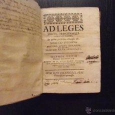 Libros antiguos: AD LEGES, FERNANDEZ DE RETES, 1664, EXERCITATIONES IURIS CIVILIS, DE LA SERNA, 1661, ARECHAGA, 1666. Lote 50116080