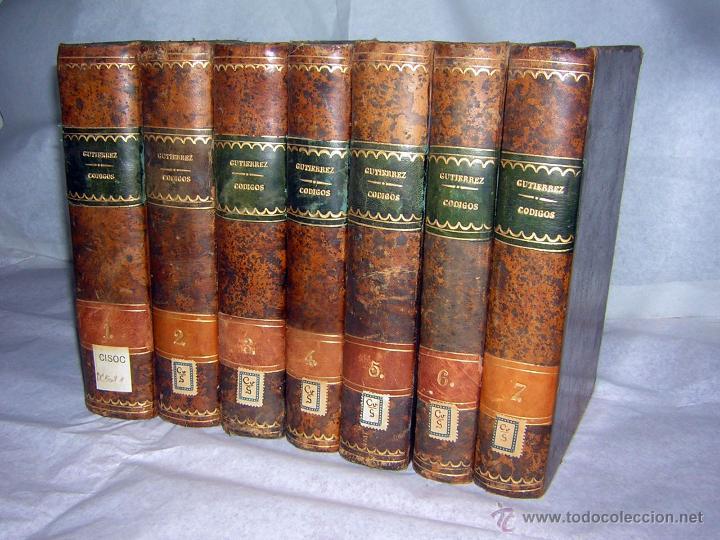 Libros antiguos: CÓDIGOS O ESTUDIOS FUNDAMENTALES, DE 1871 Y 1874, COLECCIÓN PIEL P. ESPAÑOLA GUTIERREZ F. - Foto 10 - 50125591