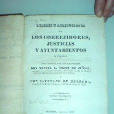 Libros antiguos: 1832 - INSTRUCCION PUBLICA / CAMINOS PUENTES Y POSADAS / CORREOS Y POSTAS / HOSPICIOS / POLICIA. Lote 50134480