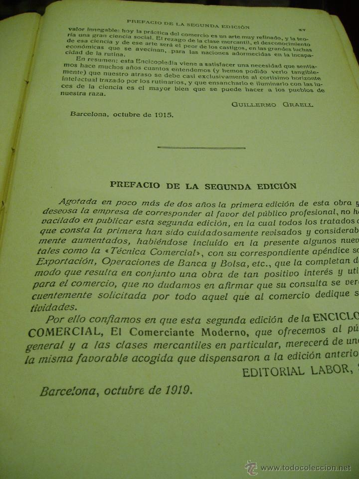 Libros antiguos: ENCICLOPEDIA COMERCIAL , SEGUNDA EDICIÓN 1915 4 TOMOS - Foto 3 - 50405057