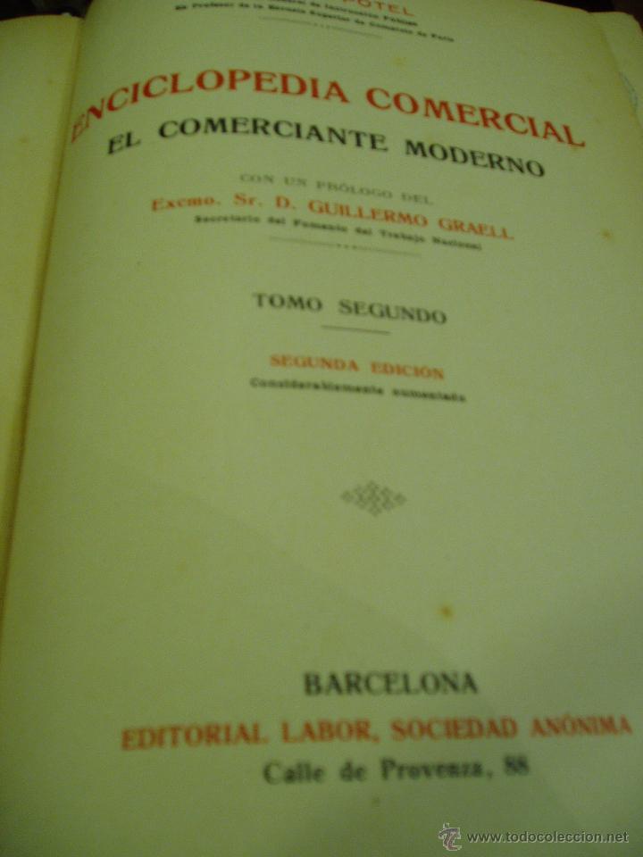 Libros antiguos: ENCICLOPEDIA COMERCIAL , SEGUNDA EDICIÓN 1915 4 TOMOS - Foto 5 - 50405057