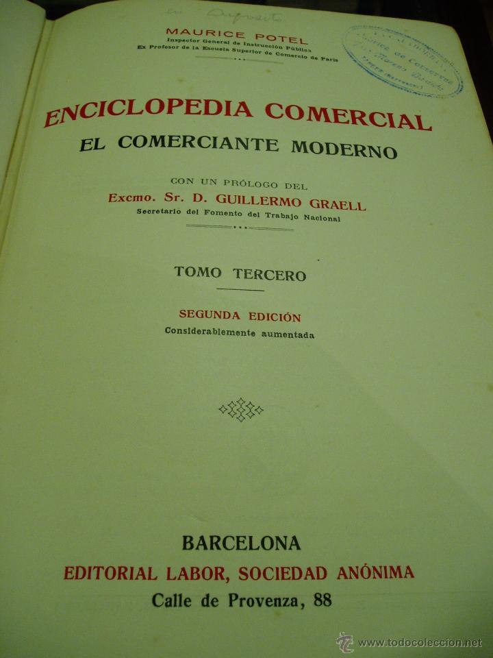 Libros antiguos: ENCICLOPEDIA COMERCIAL , SEGUNDA EDICIÓN 1915 4 TOMOS - Foto 6 - 50405057