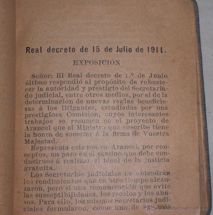 Libros antiguos: Aranceles judiciales,1911 - Foto 2 - 50411818