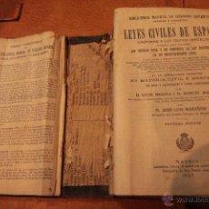 Libros antiguos: LEYES CIVILES DE ESPAÑA - MEDINA Y MARAÑON,1925. Lote 50735097