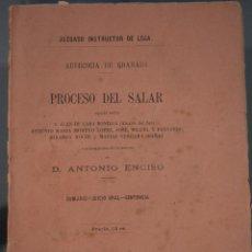 Libros antiguos: PROCESO DEL SALAR. CONTRA (ALCALDE SALAR)... POR MUERTE DE ANTONIO ENCISO. AUDIENCIA GRANADA. 1883. Lote 50940558