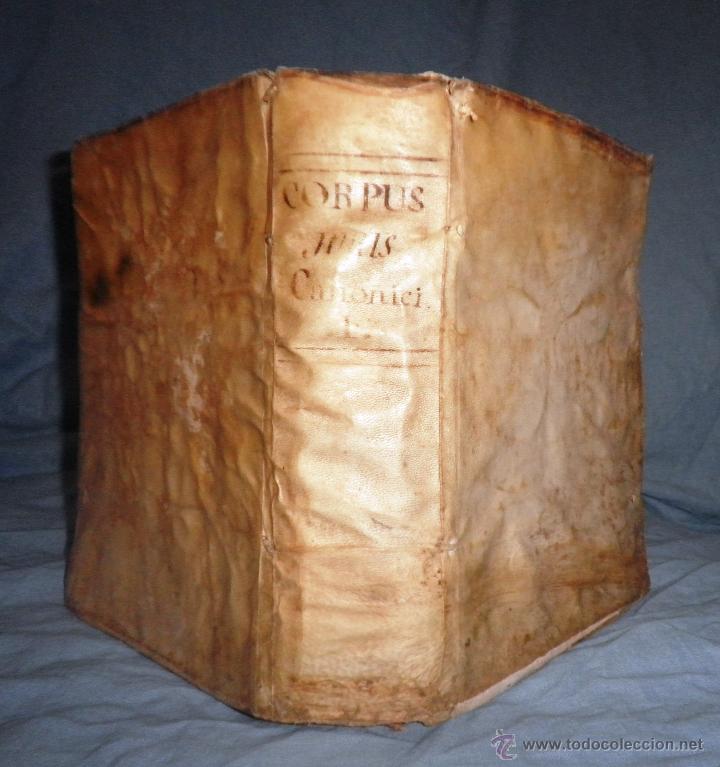 CORPUS JURIS CANONICI ACADEMICUM - AÑO 1773 - CH.HENR - PERGAMINO IN-FOLIO. (Libros Antiguos, Raros y Curiosos - Ciencias, Manuales y Oficios - Derecho, Economía y Comercio)