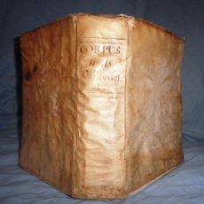 Libros antiguos: CORPUS JURIS CANONICI ACADEMICUM - AÑO 1773 - CH.HENR - PERGAMINO IN-FOLIO.. Lote 194146110