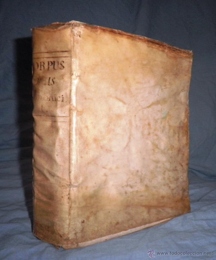 Libros antiguos: CORPUS JURIS CANONICI ACADEMICUM - AÑO 1773 - CH.HENR - PERGAMINO IN-FOLIO. - Foto 2 - 194146110