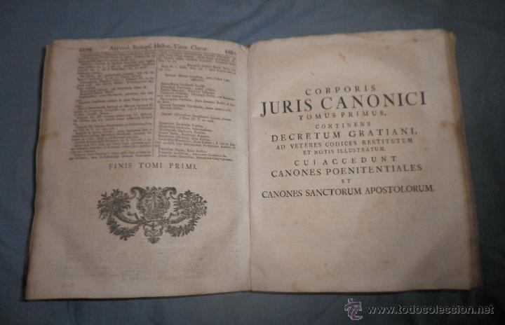 Libros antiguos: CORPUS JURIS CANONICI ACADEMICUM - AÑO 1773 - CH.HENR - PERGAMINO IN-FOLIO. - Foto 8 - 194146110