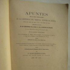 Libros antiguos: APUNTES DENEGANDO LA CASACION SOBRE REIVINDICACION SOBRE EL DOMINIO DE FINCAS EN BENIJÓFAR (ALICANTE. Lote 51195728
