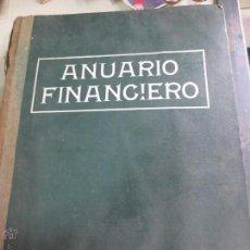 Libros antiguos: ANUARIO FINANCIERO DE LOS VALORES MOBILIARIOS COTIZABLES Y NO COTIZABLES BILBAO 1920. Lote 51689651